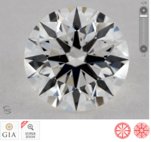 1 CARAT G-VS2 TRUE HEARTSTM IDEAL DIAMOND