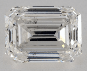 NOT EYE CLEAN 1.00 CARAT G-SI1 EMERALD CUT ROUND DIAMOND