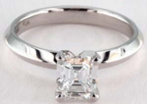 1.01 CARAT F-VS1 EMERALD CUT DIAMOND
