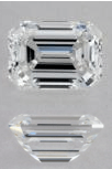 D Color Emerald Cut Diamonds