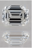 F Color Emerald Cut Diamonds