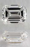 G Color Emerald Cut Diamonds