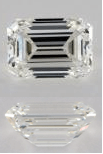 H Color Emerald Cut Diamonds