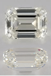 I Color Emerald Cut Diamonds