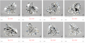 James Allen Heart Shaped Diamonds