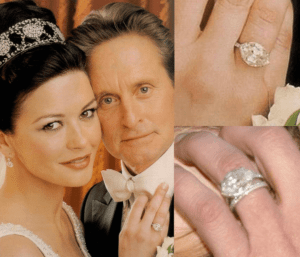 Catherine Zeta-Jones' Marquise Cut Diamond Given by Michael Douglas