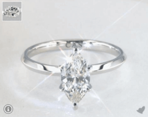 Marquise Cut Diamond in a Six-Prong Setting
