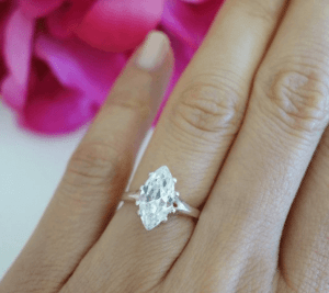 Marquise Cut Diamonds on finger