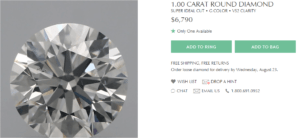 Brilliant Earth Super Ideal Cut Diamond