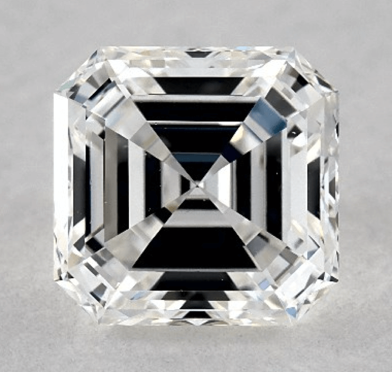 ring eternity cut asscher white diamond gold hamilton in