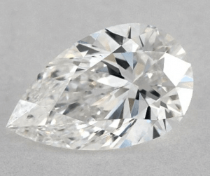 NO BOW-TIE 0.90 CARAT F-VVS1 PEAR SHAPE DIAMOND