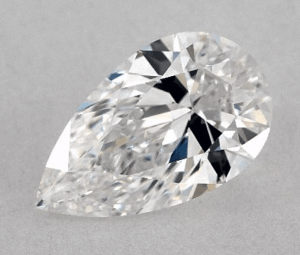 WITH BOW-TIE 0.91 CARAT E-VS1 PEAR SHAPE DIAMOND