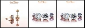 Brian Gavin Diamond Stud Earrings
