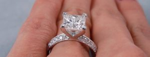 2 Carat Princess Cut Diamond Ring