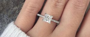2 Carat Princess Cut Diamond Ring Color