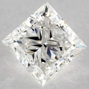 Eye Clean - 2.01 CARAT H-SI2 IDEAL CUT PRINCESS DIAMOND