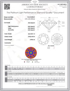 AGS - 0.90 CARAT G-VS2 IDEAL CUT ROUND DIAMOND