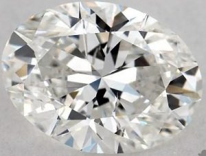0.90 CARAT G-SI1 OVAL CUT DIAMOND 2