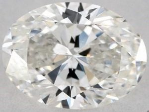 0.90 CARAT G-SI1 OVAL CUT DIAMOND