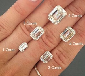 5 Carat Emerald Cut Diamond Size