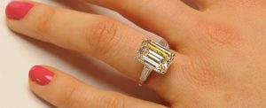 Celebrities with 5 Carat Emerald Cut Diamond