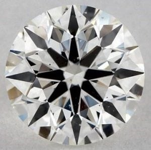 0.83 CARAT H-SI1 TRUE HEARTS IDEAL DIAMOND
