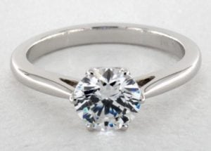 14K WHITE GOLD CLASSICO SINGLE SHANK ENGAGEMENT RING STYLE#- CL117 BY DANHOV SKU-62010W14