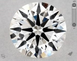 0.46 CARAT F-VS1 EXCELLENT CUT ROUND DIAMOND SKU-5617233