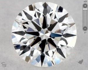 0.46 CARAT F-VS1 EXCELLENT CUT ROUND DIAMOND SKU-5791424