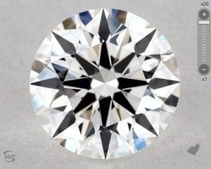 1.00 CARAT F-VS2 EXCELLENT CUT ROUND DIAMOND
