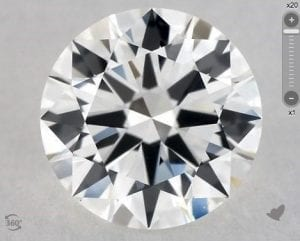 1.04 CARAT H-VS1 EXCELLENT CUT ROUND DIAMOND