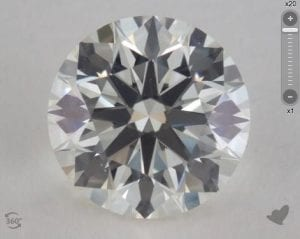 1.13 CARAT I-VS2 TRUE HEARTS IDEAL DIAMOND