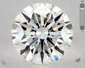 1.16 CARAT H-VVS1 EXCELLENT CUT ROUND DIAMOND