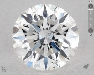 1.20 CARAT D-SI2 EXCELLENT CUT ROUND DIAMOND SKU-4420365