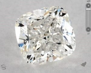 1.24 CARAT H-VVS1 CUSHION MODIFIED CUT DIAMOND SKU-5116990