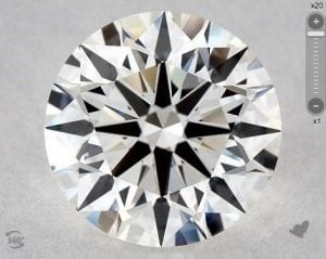 1.41 CARAT I-VVS1 EXCELLENT CUT ROUND DIAMOND