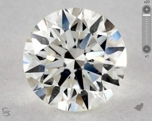 2.01 CARAT H-SI2 EXCELLENT CUT ROUND DIAMOND 2