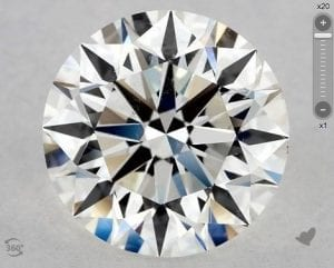 2.01 CARAT H-SI2 EXCELLENT CUT ROUND DIAMOND