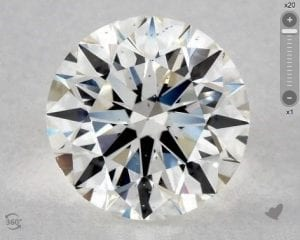 2.03 CARAT I-SI1 EXCELLENT CUT ROUND DIAMOND