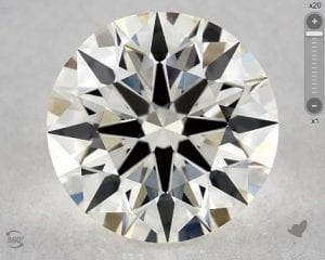 1.19 CARAT J-VS1 TRUE HEARTS IDEAL DIAMOND SKU-5234241