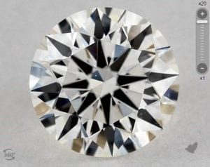1.61 CARAT I-VS1 TRUE HEARTS IDEAL DIAMOND SKU-5457226