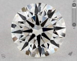 1.62 CARAT I-VS1 TRUE HEARTS IDEAL DIAMOND SKU-5457219