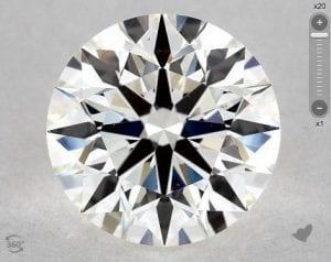 1.65 CARAT I-VS2 TRUE HEARTS IDEAL DIAMOND SKU-4748737