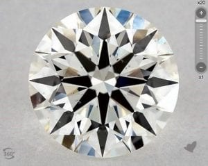 1.69 CARAT I-SI1 TRUE HEARTS IDEAL DIAMOND SKU-3257551