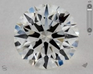 1.85 CARAT I-SI1 TRUE HEARTS IDEAL DIAMOND SKU-1006248