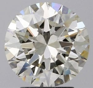 2.52 Carat Round Loose Diamond, L, VS2, Ideal, GIA Certified