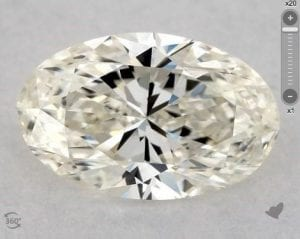 1.00 CARAT K-VS2 OVAL CUT DIAMOND SKU-6016014