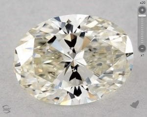 1.03 CARAT J-VVS2 OVAL CUT DIAMOND 5850987