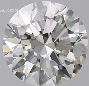 2.81 Carat J-VS2 Excellent Cut Round Diamond