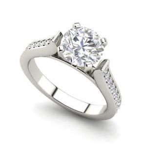 3 Ct Round Cut Diamond Engagement Ring SI1:D White Gold 14k 507660